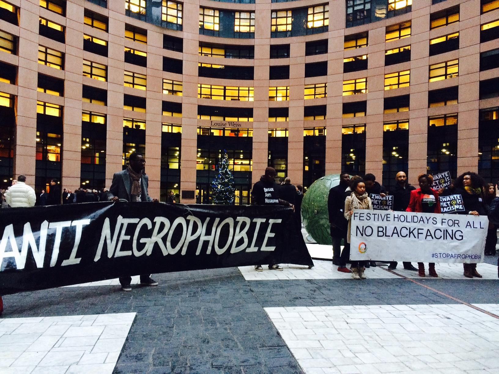 No-more-blackface-EU-parlement2