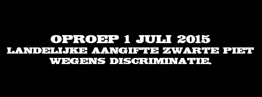 aangifte ZWarte Piet