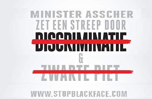 Zet een streep door Zwarte Piet Asscher
