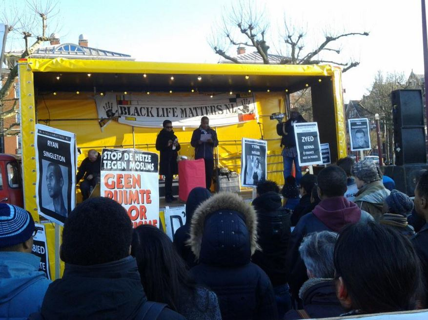 #BlackLivesMatter solidarity march in Amsterdam