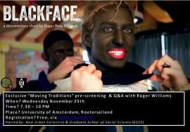 Blackface screening flyer